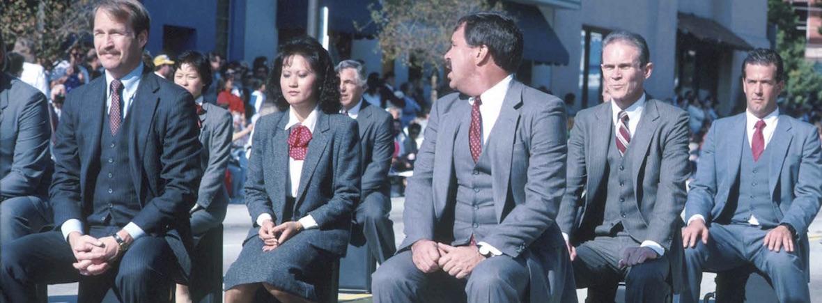 Pasadena Doo Dah Parade briefcase brigade