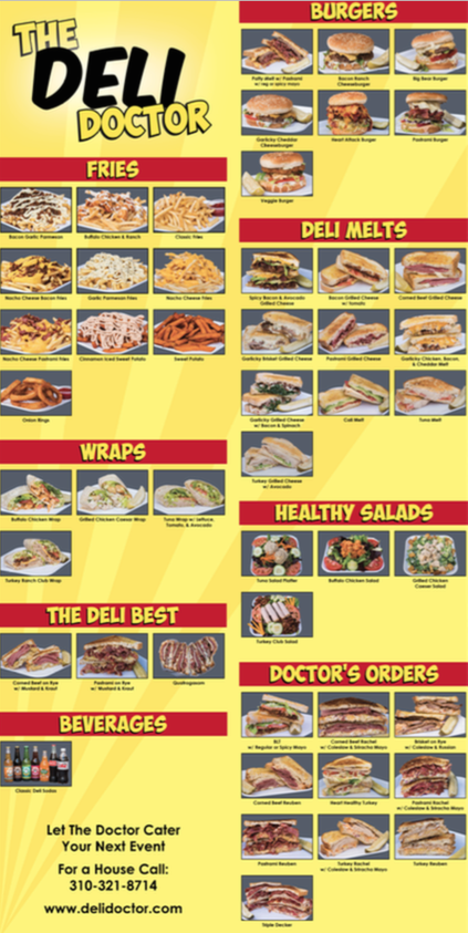 Deli Doctor Menu