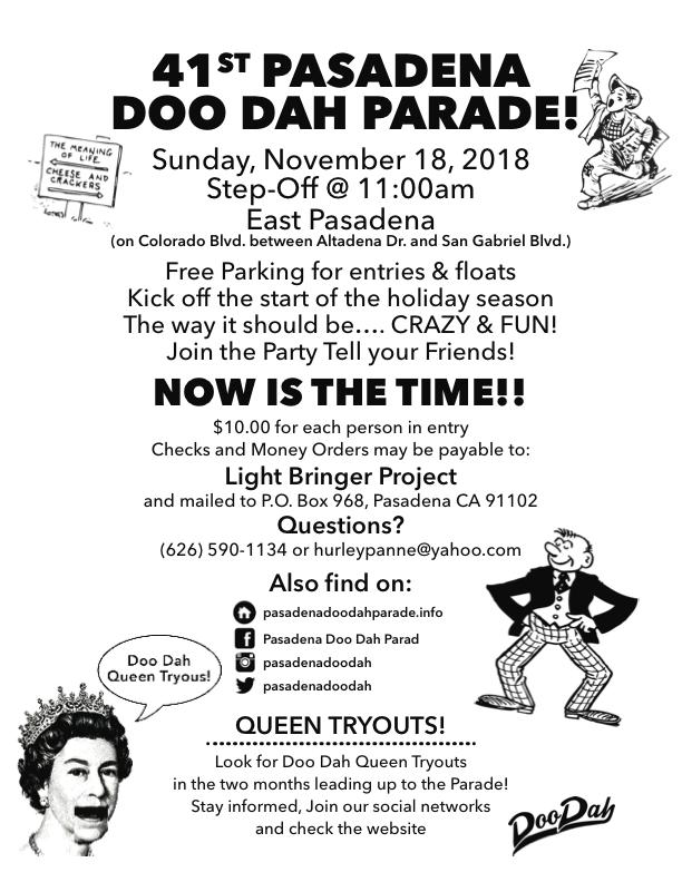 Pasadena Doo Dah Info