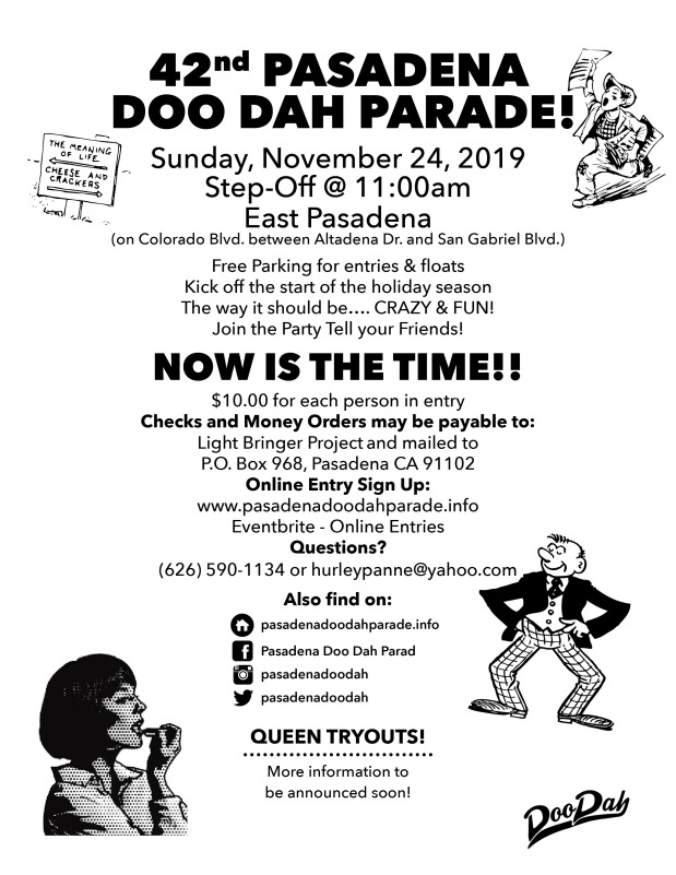2018 Doo Dah Parade Flyer